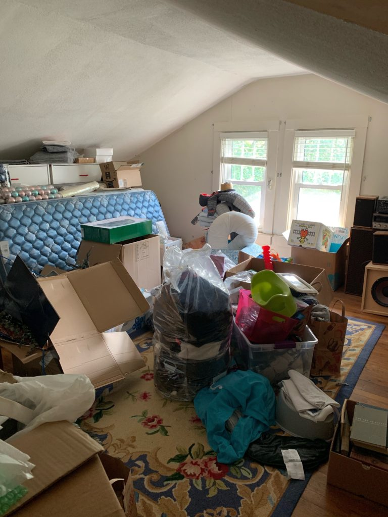 My recent attic cleanout - I own waayyy too much stuff!